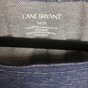 Lane Bryant Tops - Lane Bryant denim & underlay blouse sz 14/16